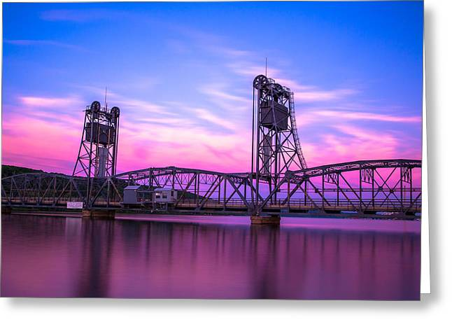 Exposure Greeting Cards - Stillwater Lift Bridge Greeting Card by Adam Mateo Fierro