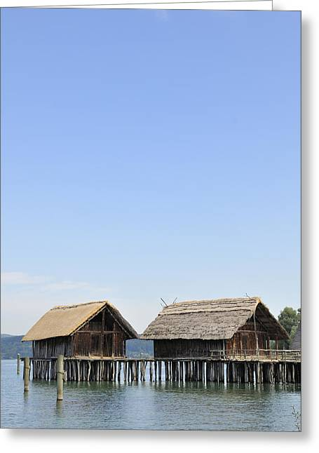 Stilt House Greeting Cards - Stilt houses at Lake Constance Germany Greeting Card by Matthias Hauser