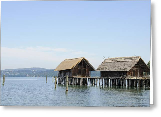 Stilt House Greeting Cards - Stilt houses in the water Lake Constance Greeting Card by Matthias Hauser