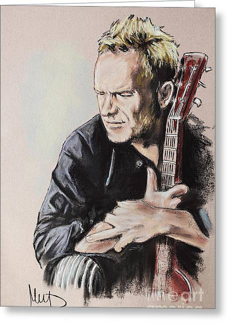 Stinging Greeting Cards - Sting Greeting Card by Melanie D