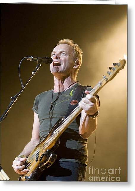 50-55 Years Greeting Cards - Sting of the Police Greeting Card by Jason O Watson