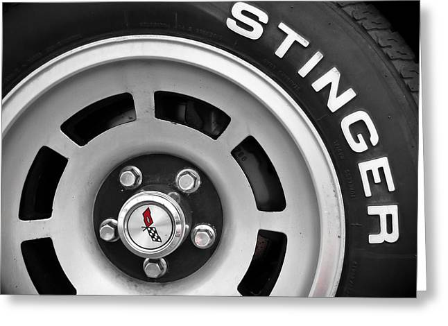 Stinger Greeting Cards - Stinger - Corvette Greeting Card by Colleen Kammerer