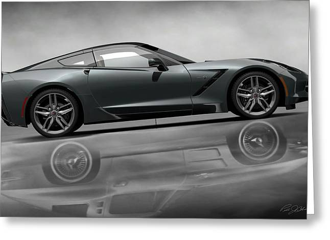 Automotive.digital Greeting Cards - Stingray Returns Greeting Card by Peter Chilelli
