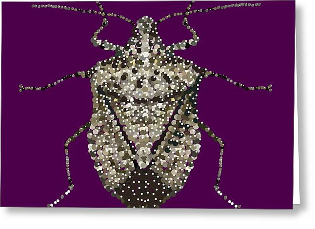 Stink Bug Bedazzled Greeting Card by R  Allen Swezey