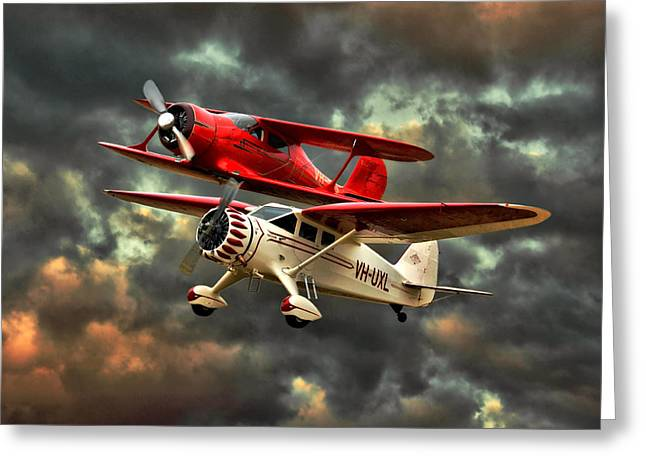 Stinson And Beech Greeting Card by Steven Agius