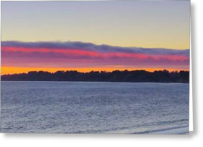 Recently Sold -  - Marin County Greeting Cards - Stinson Beach Sunset Greeting Card by Scott Cameron