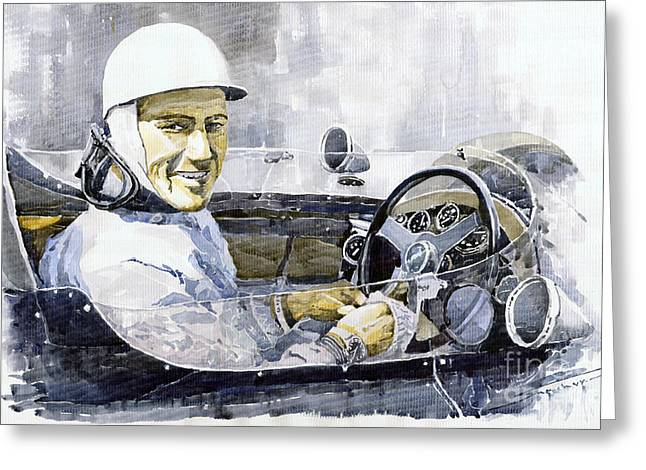 Moss Greeting Cards - Stirling Moss Greeting Card by Yuriy  Shevchuk