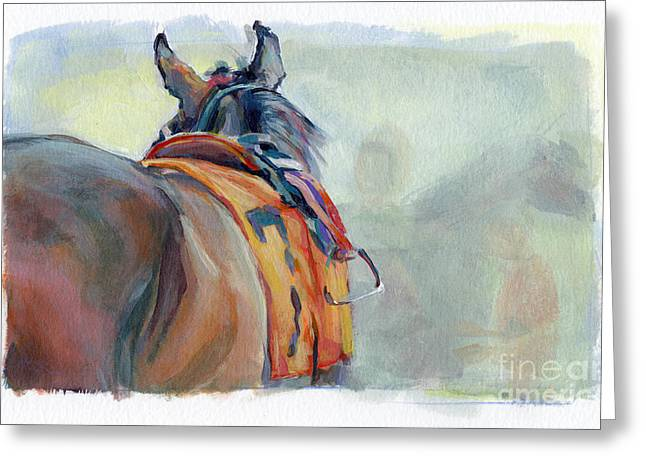 Stirrup Greeting Card by Kimberly Santini