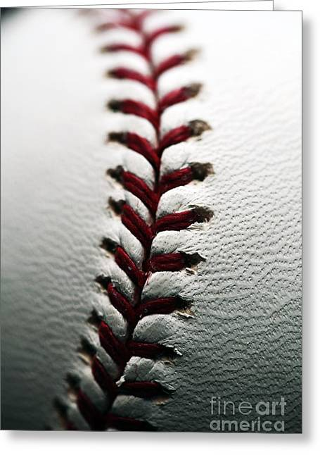 Baseball Art Greeting Cards - Stitches I Greeting Card by John Rizzuto