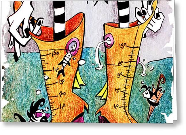 STiVaLi ACqUa ALTa - Children Book Illustration - Venezia Greeting Card by Arte Venezia