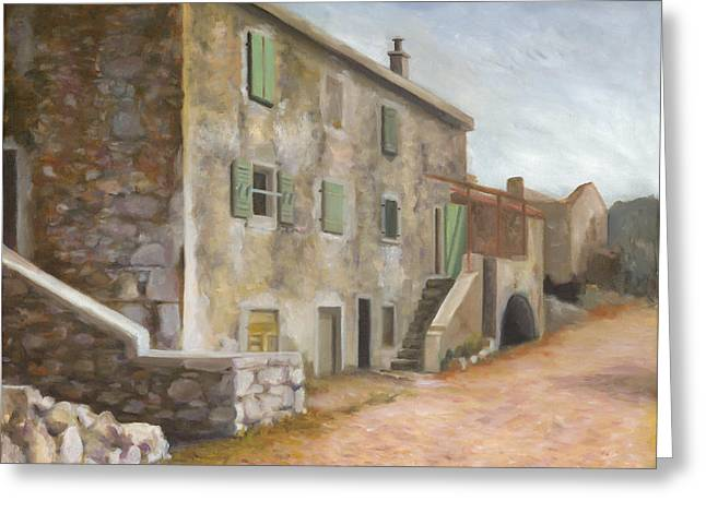 Stone House Greeting Cards - Stivan Greeting Card by Joe Maracic