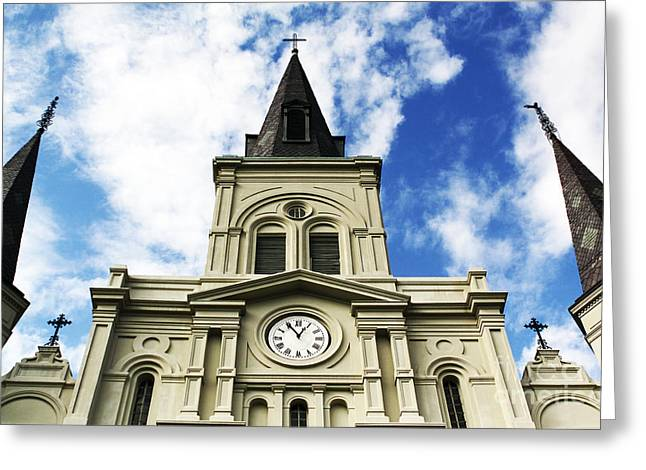 St. Louis Artist Greeting Cards - St. Louis Cathedral Up Close Greeting Card by John Rizzuto