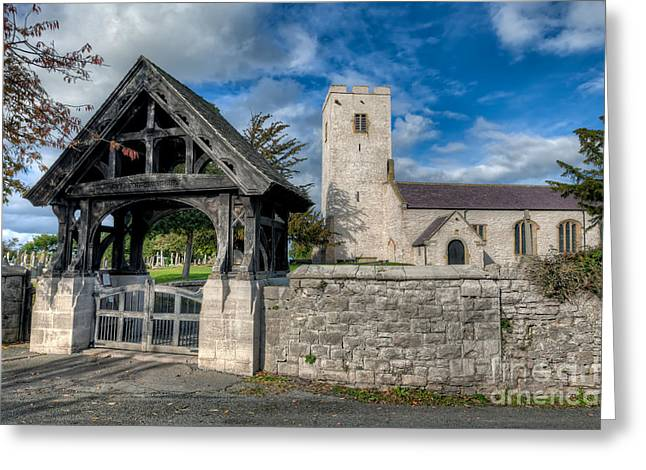 Signed Digital Greeting Cards - St.Marcellas Entrance Greeting Card by Adrian Evans