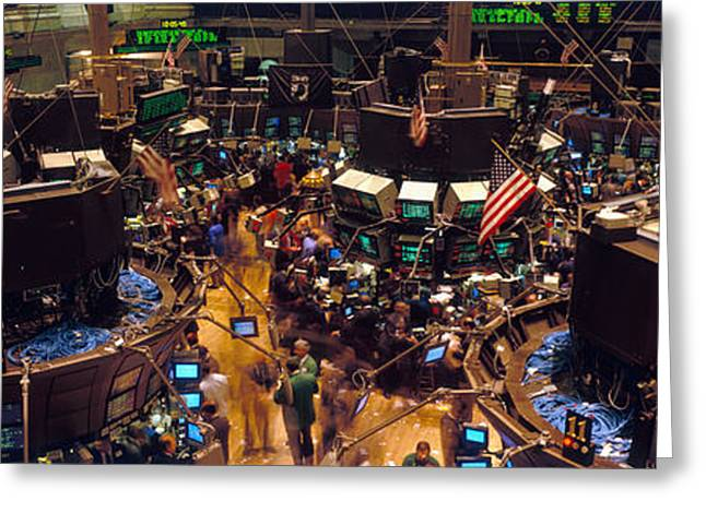 Business Movement Greeting Cards - Stock Exchange, Nyc, New York City, New Greeting Card by Panoramic Images