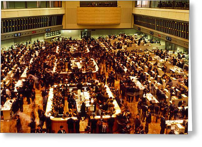 Invest Greeting Cards - Stock Exchange Tokyo Japan Greeting Card by Panoramic Images