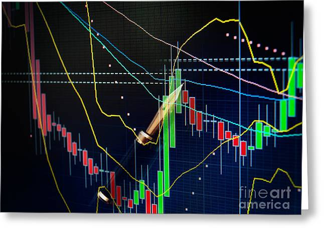 Financial Projection Greeting Cards - Stock market Greeting Card by Sinisa Botas