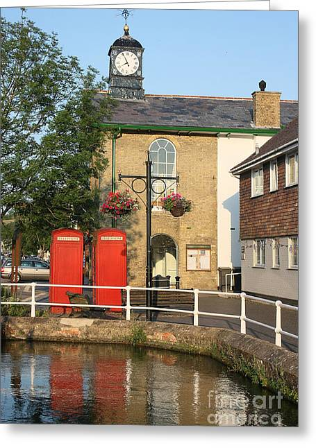 Terri Waters Greeting Cards - Stockbridge Town Hall Greeting Card by Terri  Waters