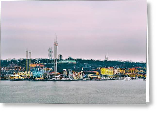 Sweden Greeting Cards - Stockholm Double Exposure Greeting Card by Stylianos Kleanthous