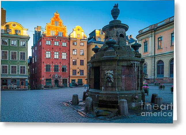 Facades Greeting Cards - Stockholm Stortorget Greeting Card by Inge Johnsson