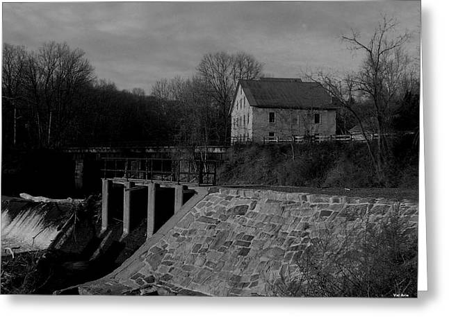 Stockton Mill Greeting Card by Val Arie