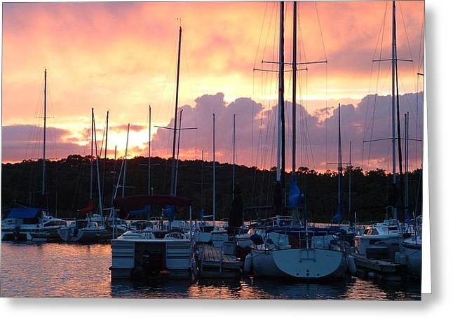 Stockton Greeting Cards - Stockton Sunset Greeting Card by Deena Stoddard