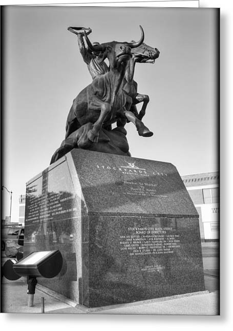 Stockyards Greeting Cards - Stockyards Statue Greeting Card by Ricky Barnard