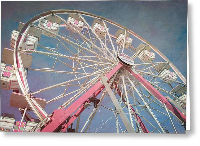 Recreational Park Greeting Cards - Stock Show Ferris Wheel Greeting Card by Joan Carroll
