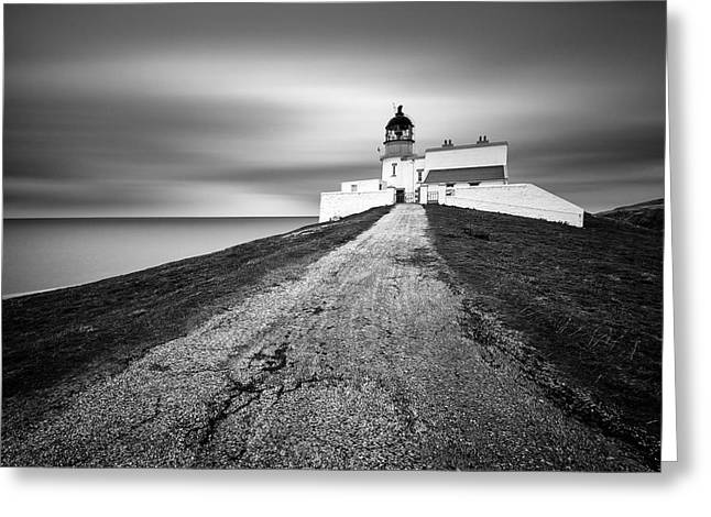 Headlands Greeting Cards - Stoer Head Lighthouse Greeting Card by Dave Bowman