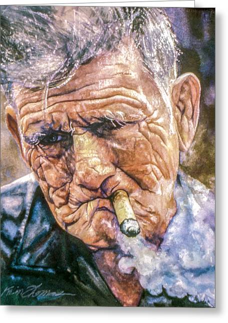 St Petersburg Florida Paintings Greeting Cards - Stogie Greeting Card by Kevin Thomas