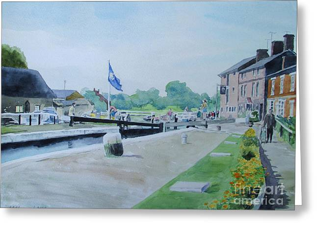 Northamptonshire Greeting Cards - Stoke Bruerne Greeting Card by Martin Howard