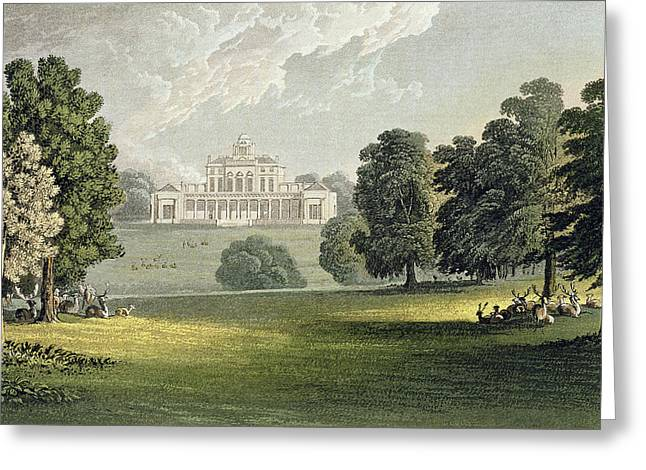 Stoke Park, From Ackermanns Repository Greeting Card by John Gendall