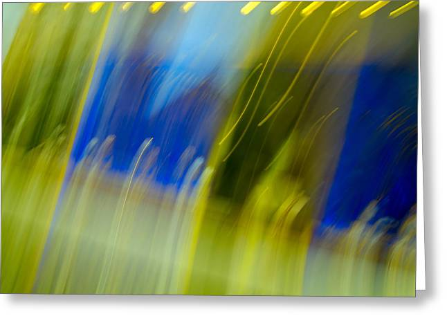 Colorful Photos Greeting Cards - Stolvant - Abstract Art Greeting Card by Laria Saunders