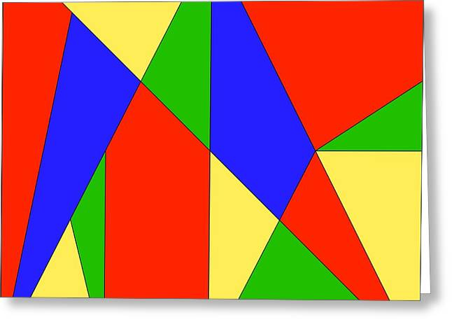 Problem Greeting Cards - Stomachion Puzzle Greeting Card by Spl