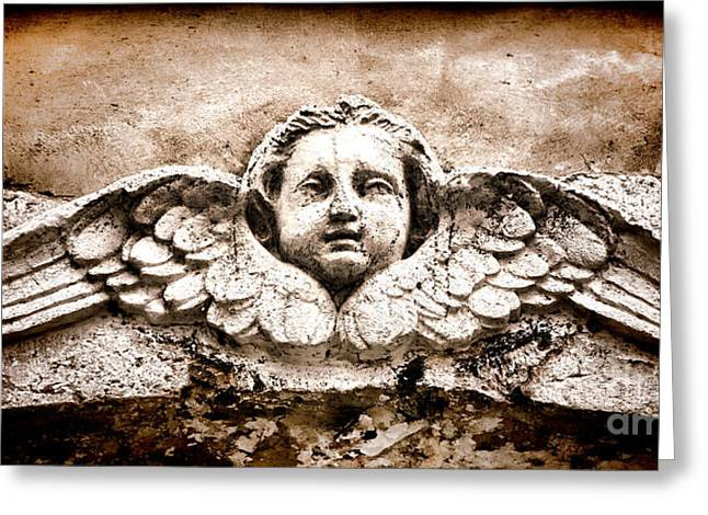 Stones Photographs Greeting Cards - Stone Angel Greeting Card by Olivier Le Queinec