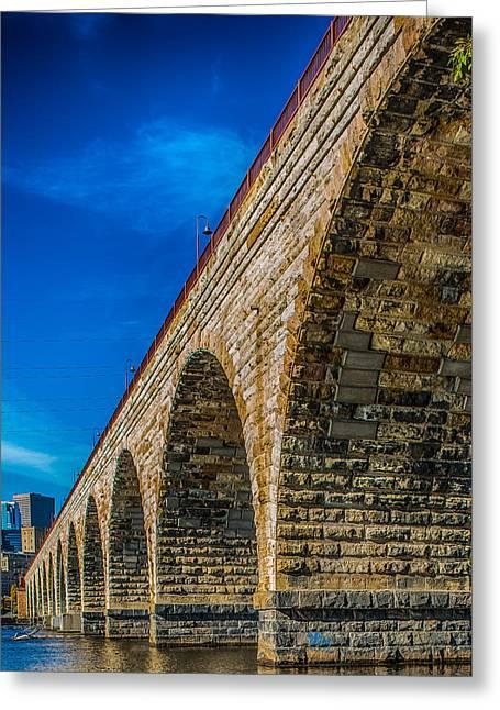 Stone-work Greeting Cards - Stone Arch Bridge By Paul Freidlund Greeting Card by Paul Freidlund