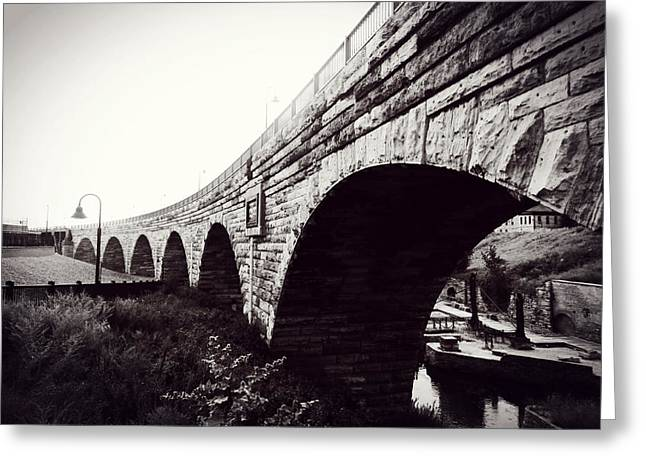 Recently Sold -  - Historical Pictures Greeting Cards - Stone Arch Bridge Greeting Card by Zinvolle Art