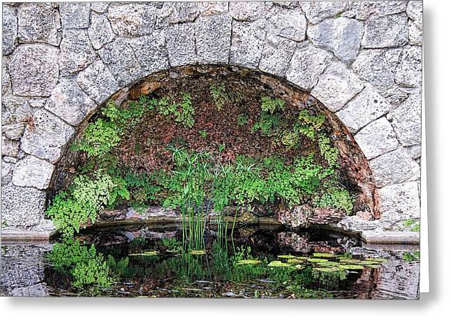 Interior Scene Photographs Greeting Cards - Stone Arch Greeting Card by Rudy Umans