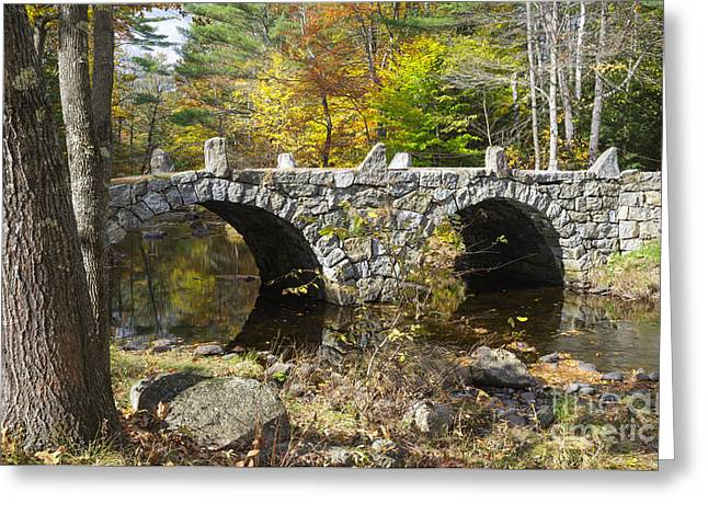 Captain America Photographs Greeting Cards - Stone Bridge - Hillsborough New Hampshire USA Greeting Card by Erin Paul Donovan