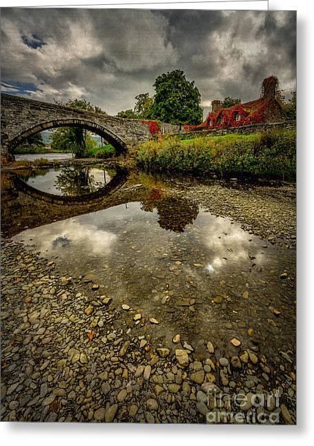 Stones Greeting Cards - Stone Bridge Greeting Card by Adrian Evans