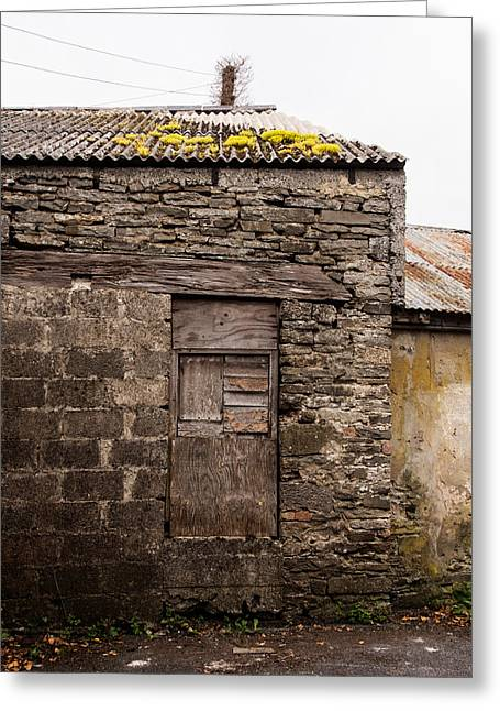 Ennistymon Greeting Cards - Stone Building in Ennistymon Greeting Card by Ron St Jean