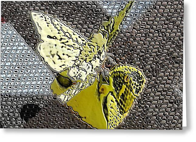 Butterlfy Greeting Cards - Stone Butterflies Mating Greeting Card by Belinda Lee