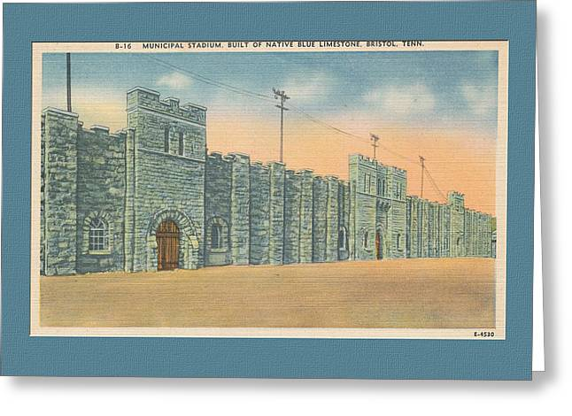 Stone Castle Bristol Tn Built By Wpa Greeting Card by Denise Beverly
