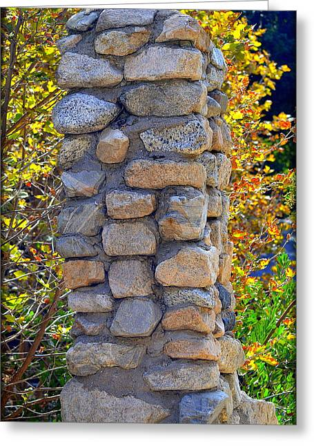 California Art Greeting Cards - Stone Chimney Greeting Card by Stan Askew
