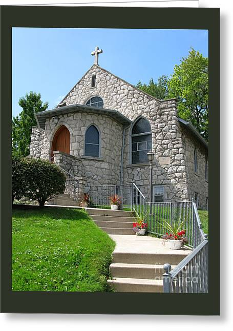 Ann Horn Greeting Cards - Stone Church Greeting Card by Ann Horn
