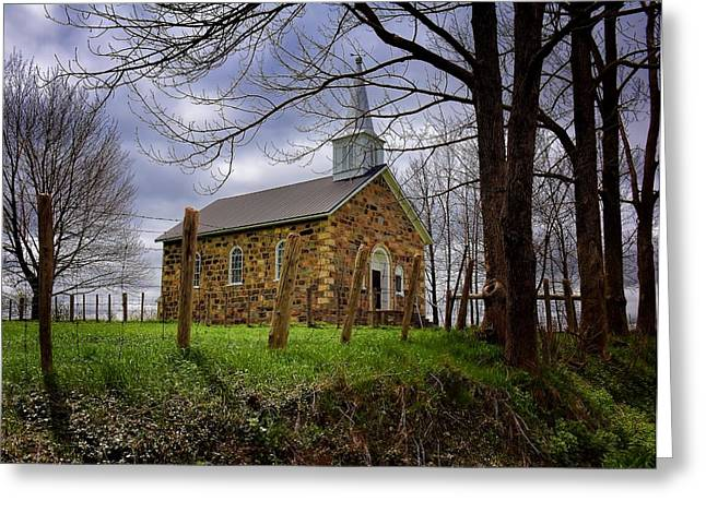 Gospel Greeting Cards - Stone Church  Greeting Card by Henry Kowalski