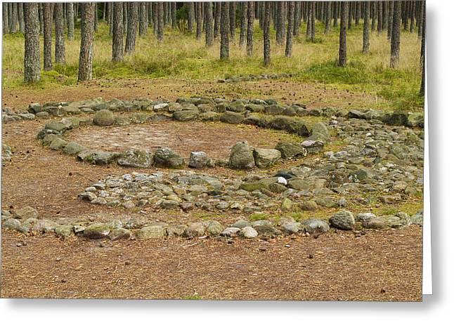 Stellenbosch Greeting Cards - Stone Circle Greeting Card by Karol Kozlowski