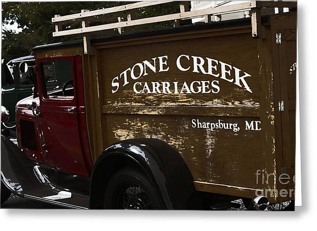 Old Trucks Digital Greeting Cards - Stone Creek Carriages  Greeting Card by Steven  Digman