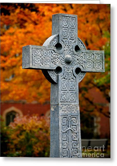 Religious Greeting Cards - Stone Cross Duquesne University Greeting Card by Amy Cicconi