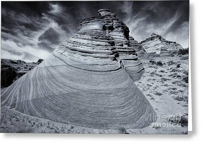 Coyote Buttes Greeting Cards - Stone Curves Greeting Card by Mike  Dawson