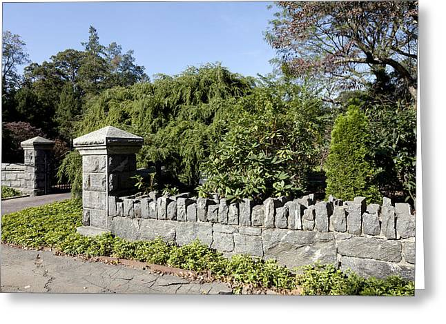 Stone Fence Greeting Cards - Stone Fences in Greenwich Connecticut Greeting Card by Carol M Highsmith